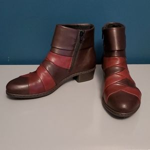 Rieker Ankle Boots Low Heel Lined Brown EUR 36